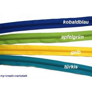 1m Endlosreissverschluss 5mm Spirale inkl. 2 Stk Schieber - Farbwahl