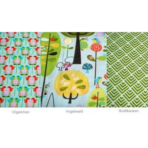 10cm Baumwolldruck  Happier (Riley Blake Design) + Summer Breeze  - Designwahl   (Grundpreis € 10,50/m)