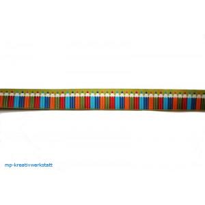 1m Webband mit Buntstiften 16mm breit